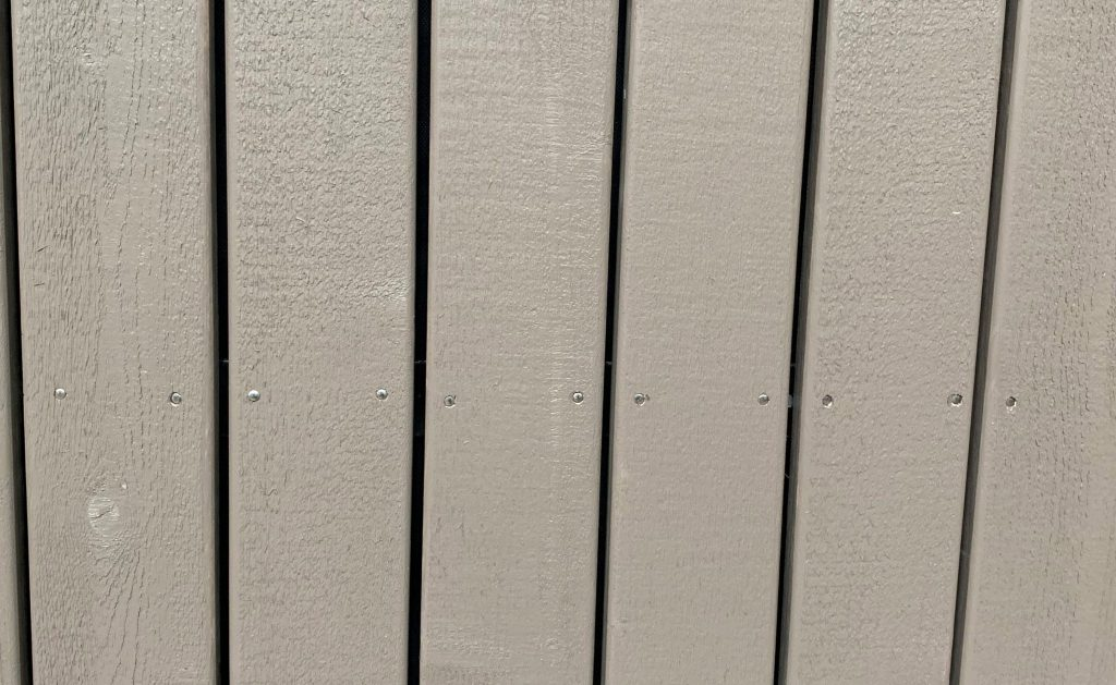 vertical wood painted siding